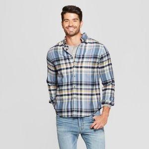Goodfellow sz XXL !00% cotton plaid shirt
